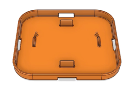 The new design for an orange casing.