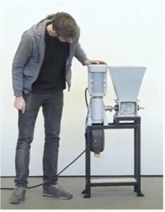 A plastic shredder.